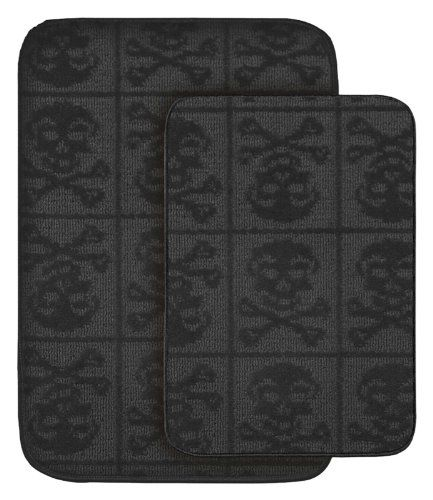 Skull And Crossbones Bath Mat Skull Bathroom Accessories