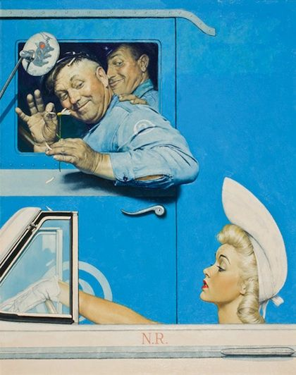 The Flirt Reflecting the shared experiences we have throughout our lives, Norman Rockwell's paintings are truly timeless. As the ultimate storyteller, Rock