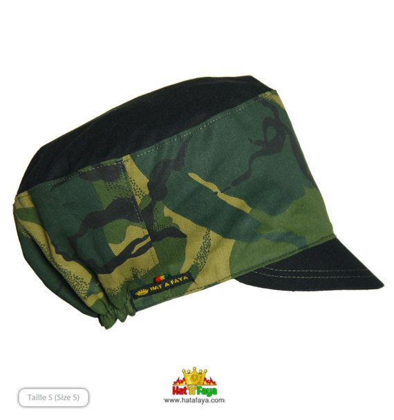 JAH ARMY  Hat for Dreadlocks 21.326 54-66cm Rasta Cap par HATaFAYA