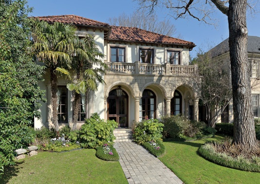 Lhm dallas stunning mediterranean style residence in old for Mediterranean stone houses
