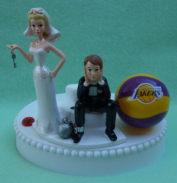 Wedding Cake Topper Los Angeles Lakers LA Basketball by WedSet, $59.99