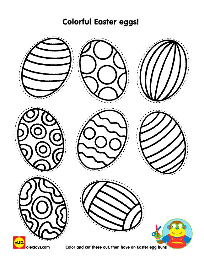 Color these fun #Easter eggs with our fun printable activity sheet for kids | alextoys.com