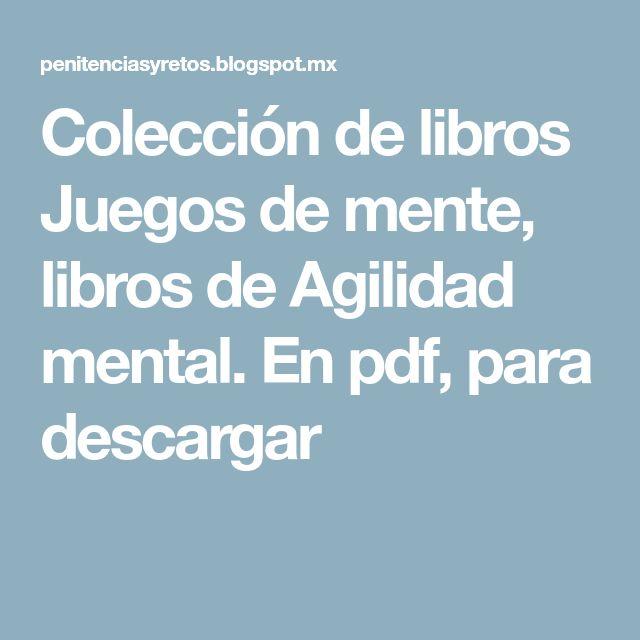 Colecci U00f3n De Libros Juegos De Mente  Libros De Agilidad