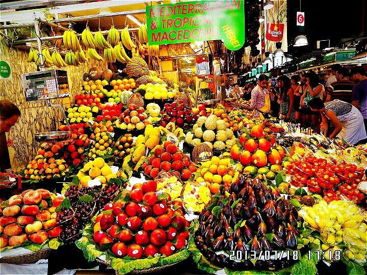 Spain, Ramblas street, Boqueria Market