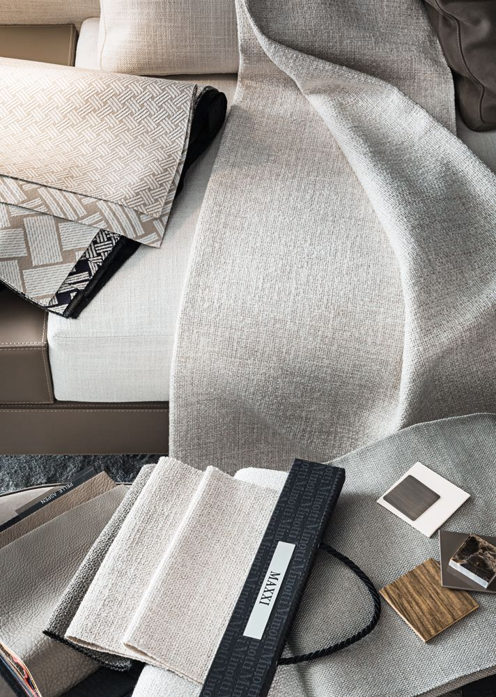 Minotti Moodboard Textile Leather Marble Wood T O N