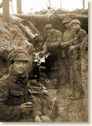 Christmas in the Trenches, 1914: in the midst of one of the most vile wars ever to occur, there is a Christmas Day to treasure.  The Germans seemed to make the first move, delivering a chocolate cake to the British line on the evening of December 24th, accompanied by a note proposing a ceasefire so that the Germans could have a concert. The British accepted the proposal and offered tobacco as their present to the Germans.