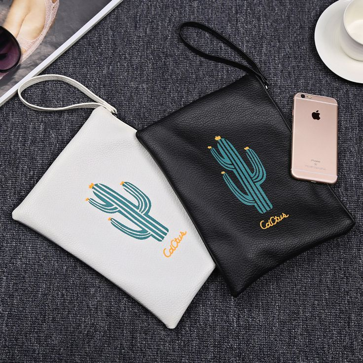 2017 JULY'S SONG New Arrival Cactus Printing Clutch High-quality Wristlets Female Storage Bag //Price: $4.80 & FREE Shipping //     #hashtag3