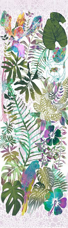 Scarf Design 2, Jungle Foliage