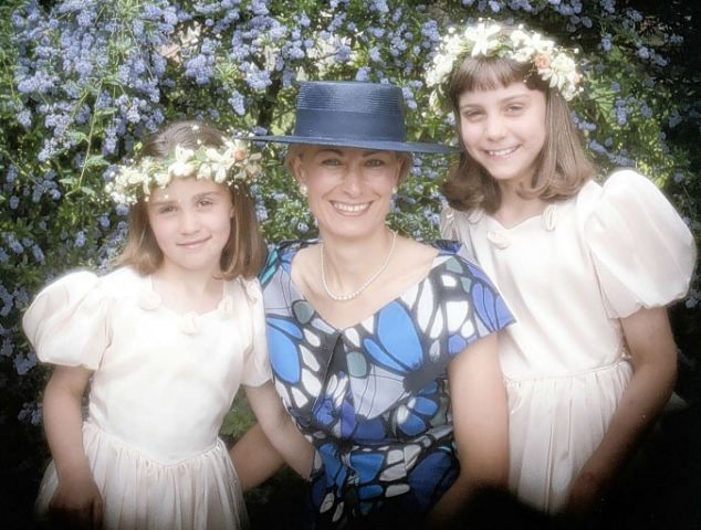 Young Kate and Pippa at their uncle's wedding in 1991