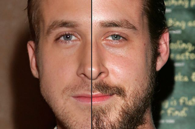Ryan Gosling once sported a full beard, believe it or not. Which do you prefer?
