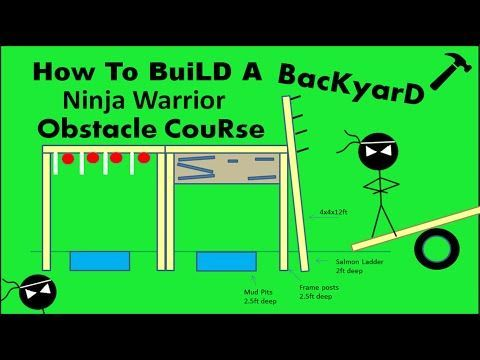 Ninja Warrior Course: NEW OBSTACLES & BLUEPRINTS!  How To Build Your Own Course! - YouTube