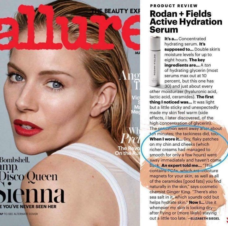 "Oh Allure! We love you too! Love FREE Press and hearing others rave about our Newest Product Innovation, Active Hydration Serum. Yes, it works...and everyone needs it!   http://www.allure.com/story/rodan-fields-active-hydration-serum-review  ""Here's the thing about Rodan + Fields. When they come out with a new serum or a cream or a peel, it's not unusual for millions — literally, millions — of people to go nuts over it. And if you do things like go on Facebook or check Twitter or talk to…"