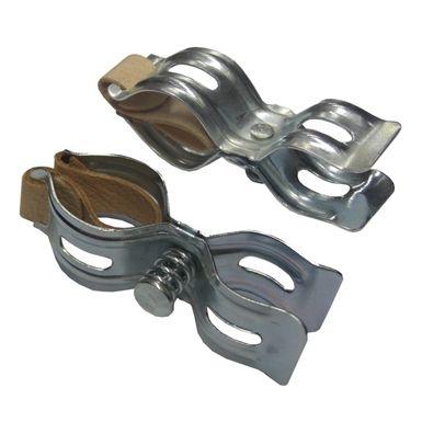Par de soporte bomba para bicicleta, 4,90€ para cuadros, cincados e inserciones de cuero. Accesorios, Bombas de aire - Bicicletasclasicasleo.com