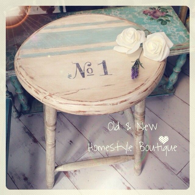 Finished with a No1 transfer & grain sack design this stool is now perfect…                                                                                                                                                                                 More