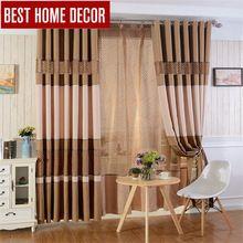 BHD linho costura clássico blackout cortinas para cortinas da janela cortinas blackout para sala de estar do quarto terminou widnow(China (Mainland))