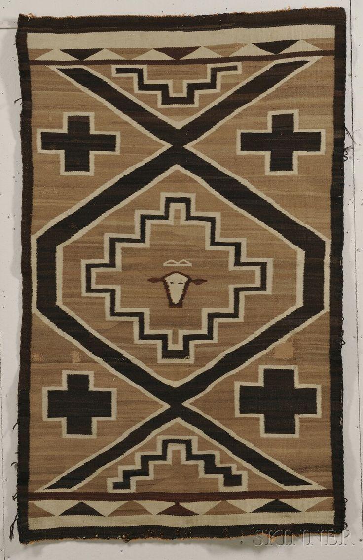 Navajo Textile Number 2596b Lot 400 Skinner Auctioneers