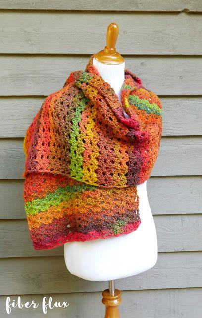 Free Crochet Patterntumn Symphony Shawl In 2018 Crochet
