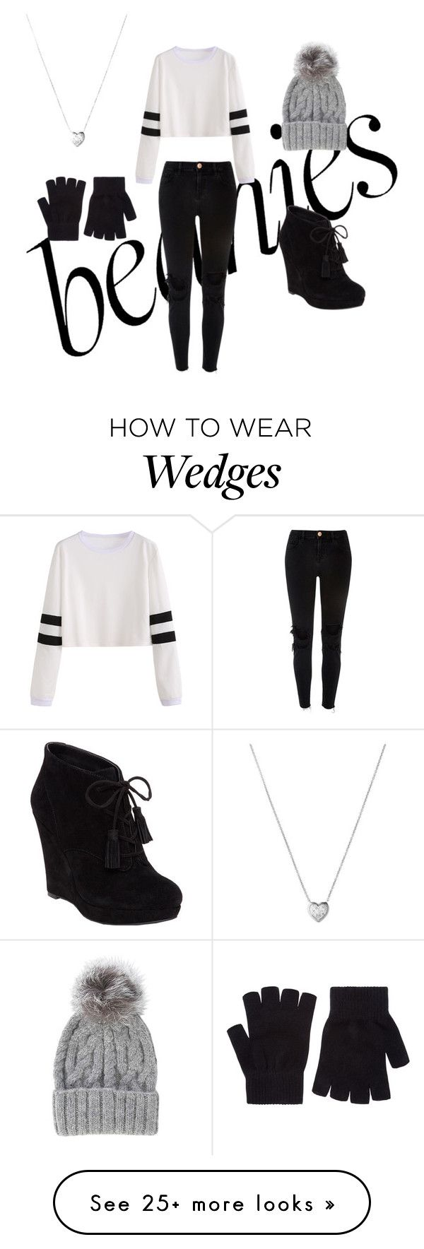 """beanie!!!"" by izzy6335 on Polyvore featuring Jessica Simpson, Links of London, Eugenia Kim, River Island and Accessorize"