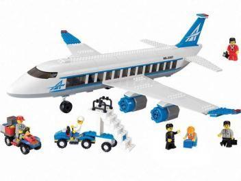 Kit de Blocos de Encaixe Embarque Imediato - Avião de Passageiros Xalingo - 434 Peças
