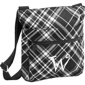 Organizing Shoulder Bag Black Pick Me Plaid 66