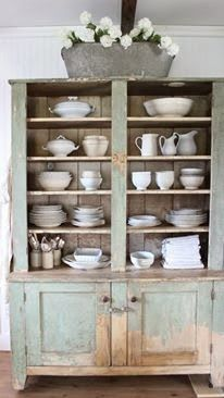 Rustic Farmhouse . Our Farmhouse . Cupboard Hutch . #farmhouse #hutch . myrusticfarmhouse.blogspot.ca