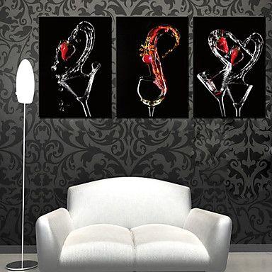Stretched Canvas Art Still Life Three Wine Glasses Set of 3 – AUD $ 85.79