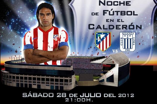 Falcao, protagonista de uno de los carteles publicitarios del primer partido del Atleti 2012/13 en el Vicente Calderón (haz click sobre la imagen para más información).