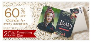Best Christmas Card Deals Roundup November 2014 Here is a Christmas Card Deals Roundup for you. Take note that some of the offers end soon! Get flatHolidaycards for just $1.29 plus FREE stamps from Cardstorewhen they mail them for you. Through 11/25. Get 60% off Christmas Cards at Zazzle when you enter code4EVERYEVENTZ at checkout. [...]