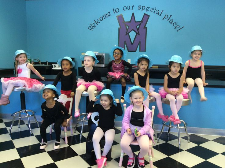 Blue hats to say, thank you, to all the Girls who celebrated her Cinderella Birthday Wish at Vicki Michelle Dance Studio.