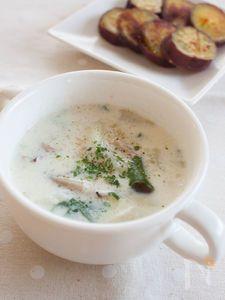 かぶとしめじのミルクスープ