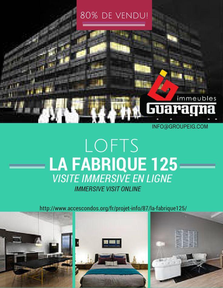 VISITE IMMERSIVE : Notre unité chouchou # 609 #LaFabrique125 vous ouvre virtuellement ses portes dès maintenant. Faites comme chez vous!  La visite commence ici! >> http://ow.ly/zgVWi  / IMMERSIVE TOUR: Our favorite unit # 609 #LaFabrique125 opens its doors virtually now. Make yourself at home!   The tour starts here! >> http://ow.ly/zgVWi