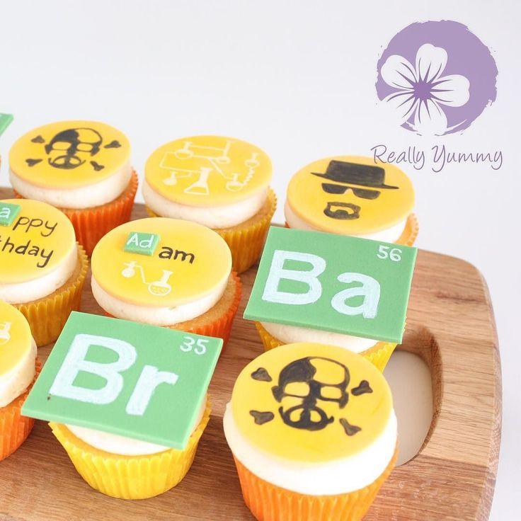 Breaking Bad cupcakes  #reallyyummycakes #cakedesigner #bespokecakes #hampshirecakes #winchestercakes #cakes #ryfacebook #breakingbad #cupcakes