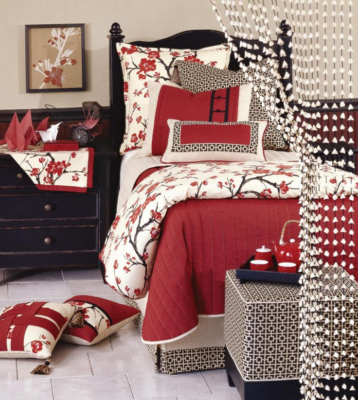 153 best images about dormitorios conforters sabanas for Cherry blossom bedroom ideas