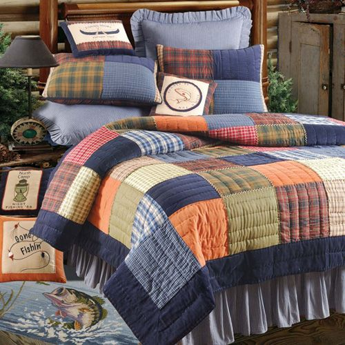 Inspiration for the bedroom of a rustic cabin, cottage or lodge - C & F Northern Plaid Quilt Bedding