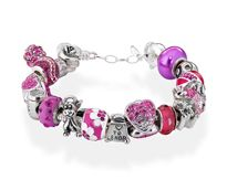 Amore & Baci pink/fuchsia bracelet