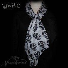 Skull Fashion Scarf. www.nixdungeon.co.nz