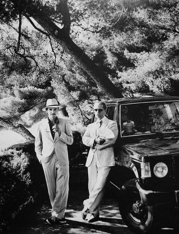 Karl Lagerfeld and Jacques de Bascher, Eze, France 1985 (749b) $100