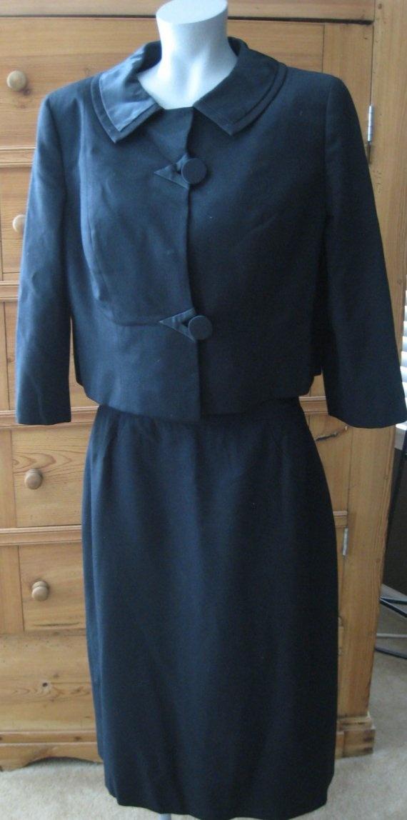 1950s Vintage I-Magnin Black Suit