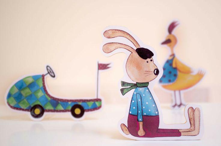 Wandbilder und Aufsteller aus Holz für's Kinderzimmer