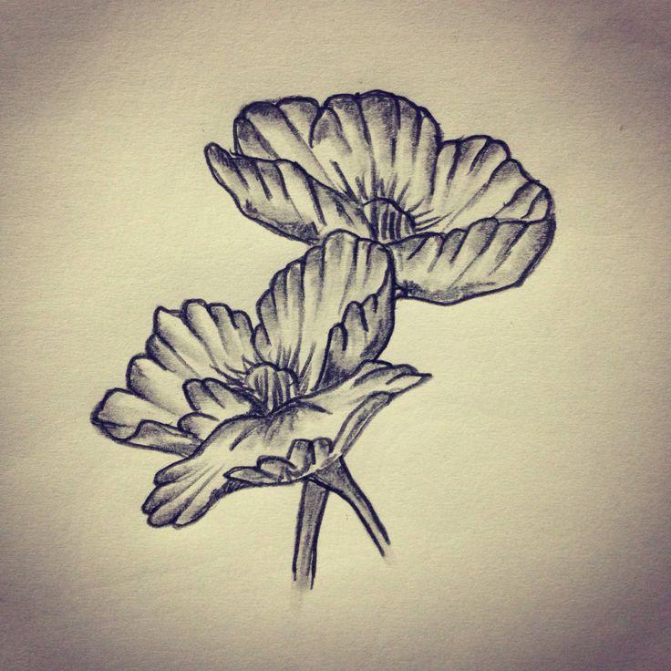 Poppy / Flower tattoo sketch / Drawing / Tattoo ideas by ...