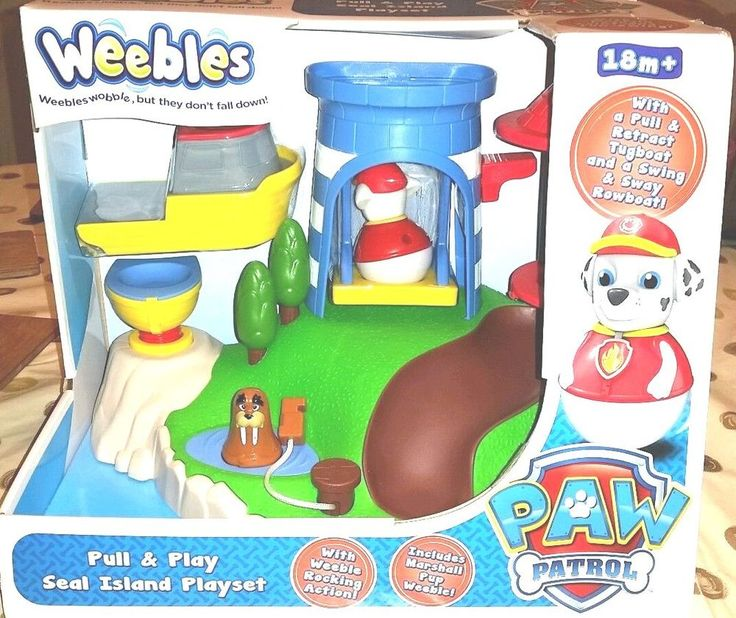 Nickelodeon Weebles Paw Patrol Pull &Play Seal Island Play set BOY'S GIRL'S 18 +