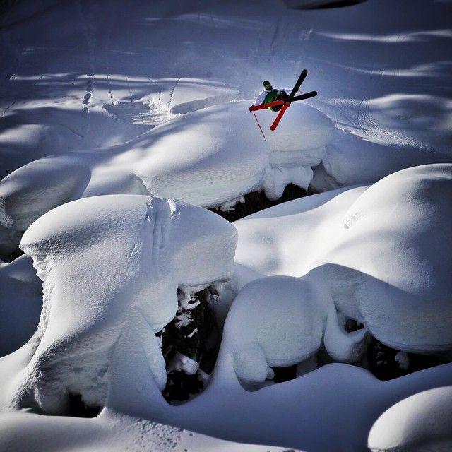 Skier: Candide Thovex. Photographer: Spencer Francey
