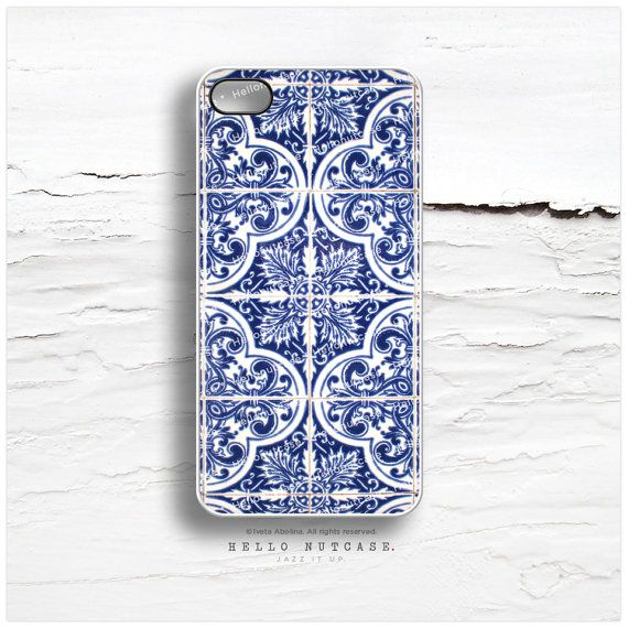iPhone 5C Case Old French Tile iPhone 5s Case by HelloNutcase, $19.00