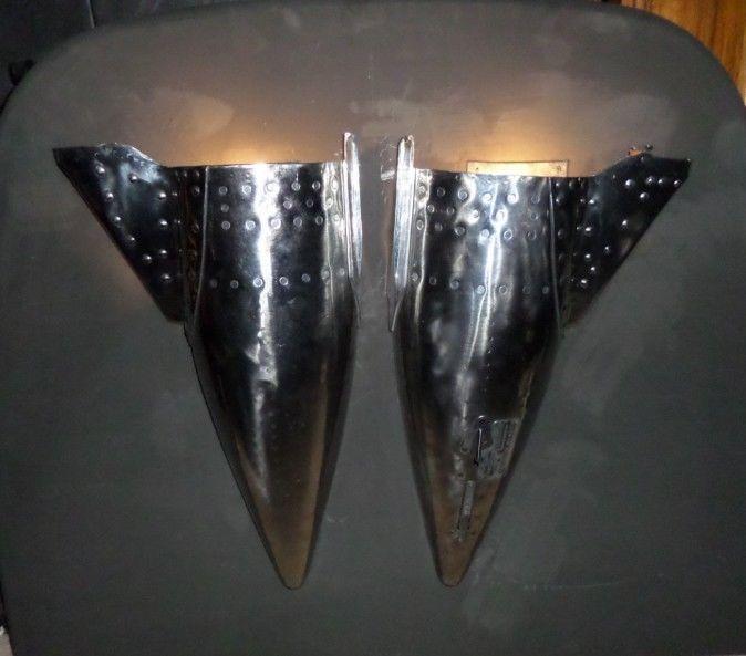 Russian MiG Aircraft part for wall art or lighting - Cold War Artifact Aluminum