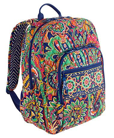 Campus Backpack | Vera Bradley i wanted this from the first day of school!!!!!