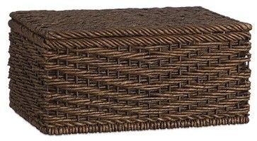 Ventana Lidded Basket Small contemporary baskets