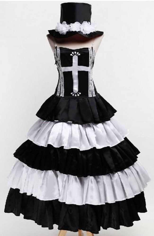 Relaxcos One Piece Gothic Lolita Perona Cosplay Costume- Made * Details can be found by clicking on the image.