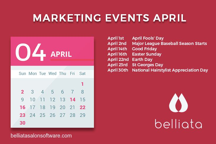 Dont get caught out by April Fools this 2017, make sure you use our national days calendar to give your salon marketing inspiration.