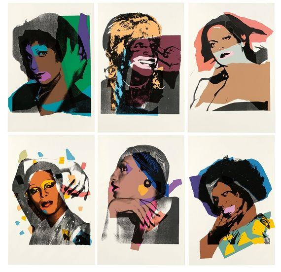 Artwork by Andy Warhol, 10 Works: Ladies and Gentlemen, Made of Colour silkscreens on Nacreous wove paper