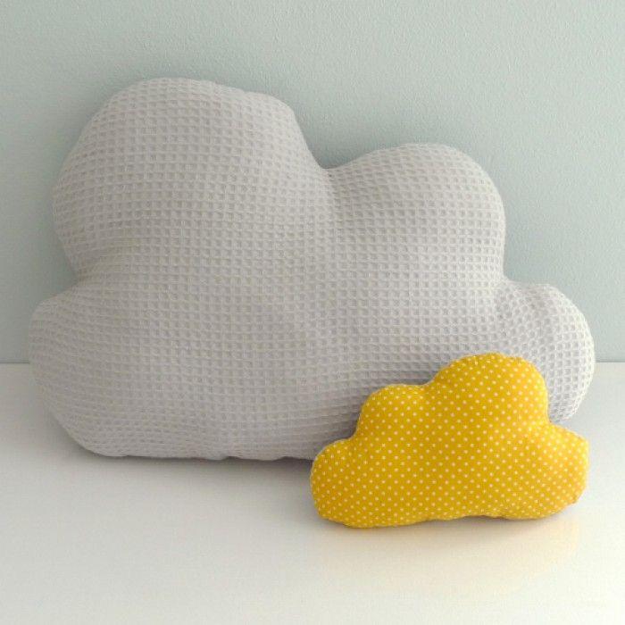 Kussens wolkje grijs geel